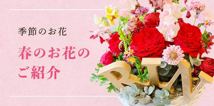 季節のお花 Sakaseruからお届けした春のお花をご紹介します。