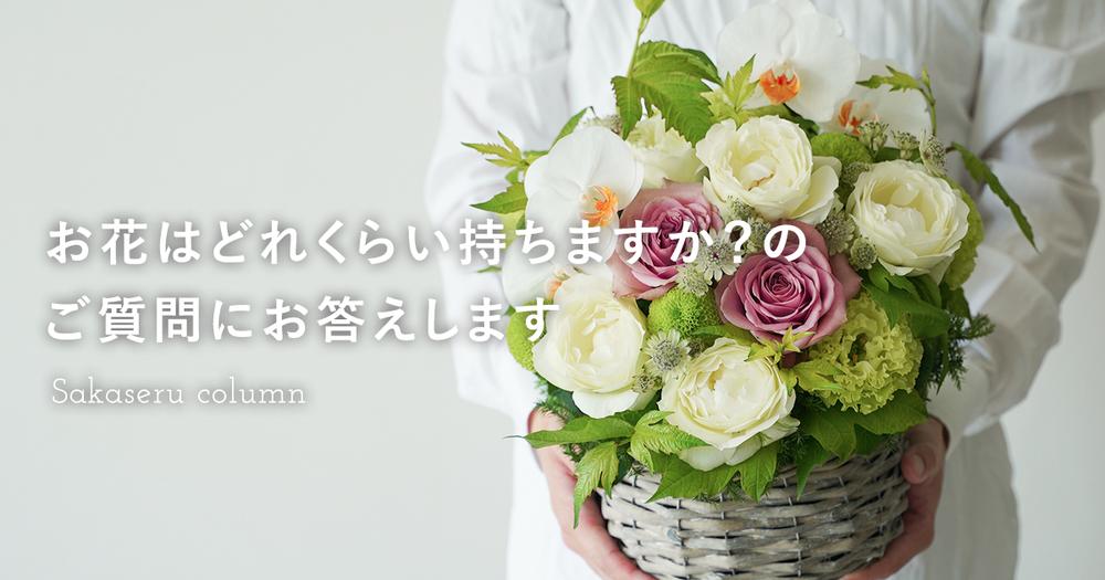 お花はどれくらい持ちますか?のご質問にお答えします。 - 商品テストを行ってみました -