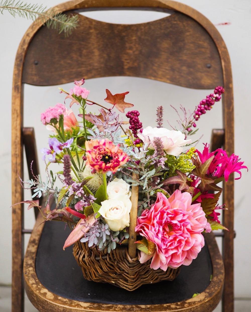 お誕生日祝いの優しい祝い花
