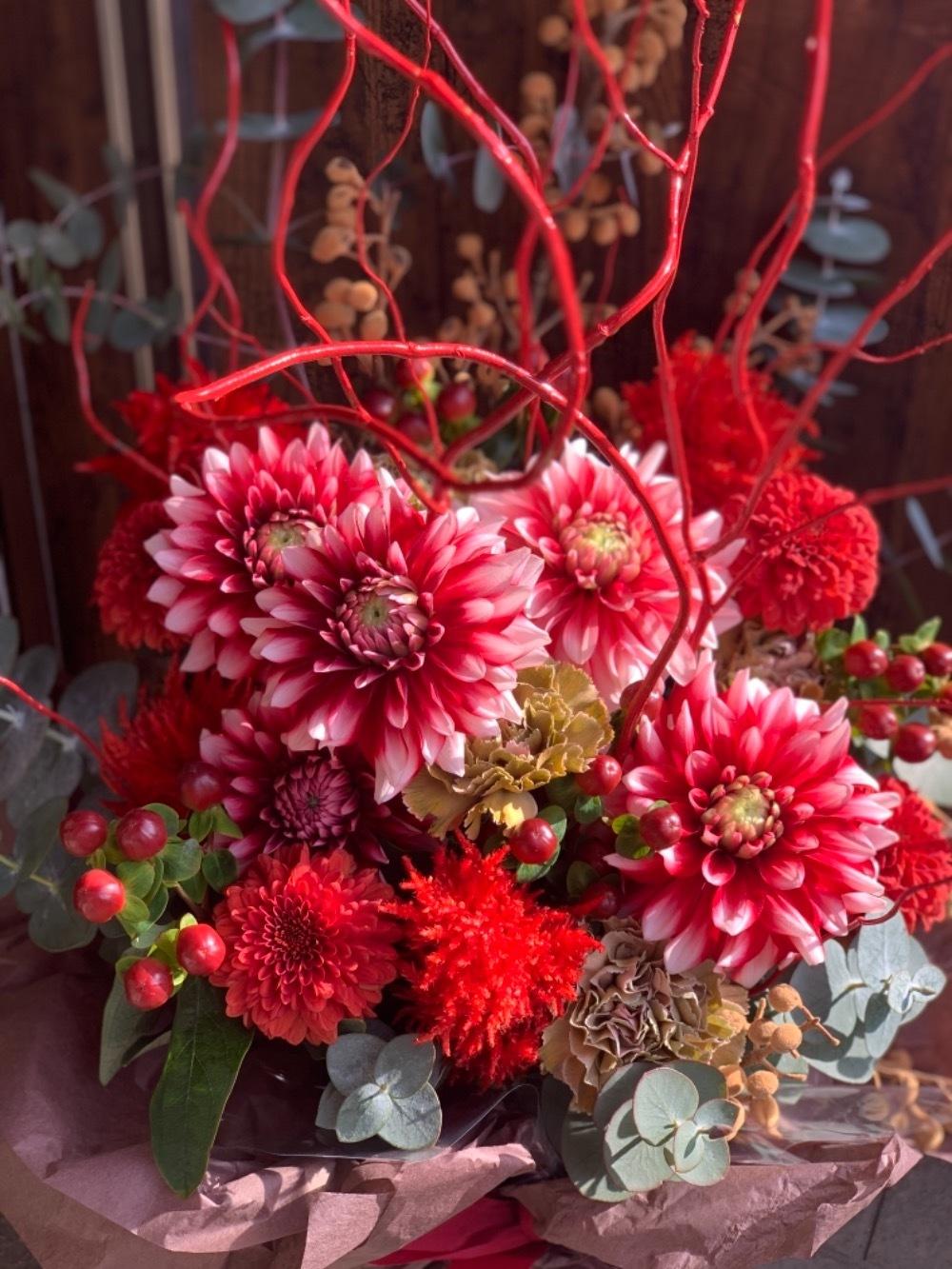 開店祝いの華やかな祝い花