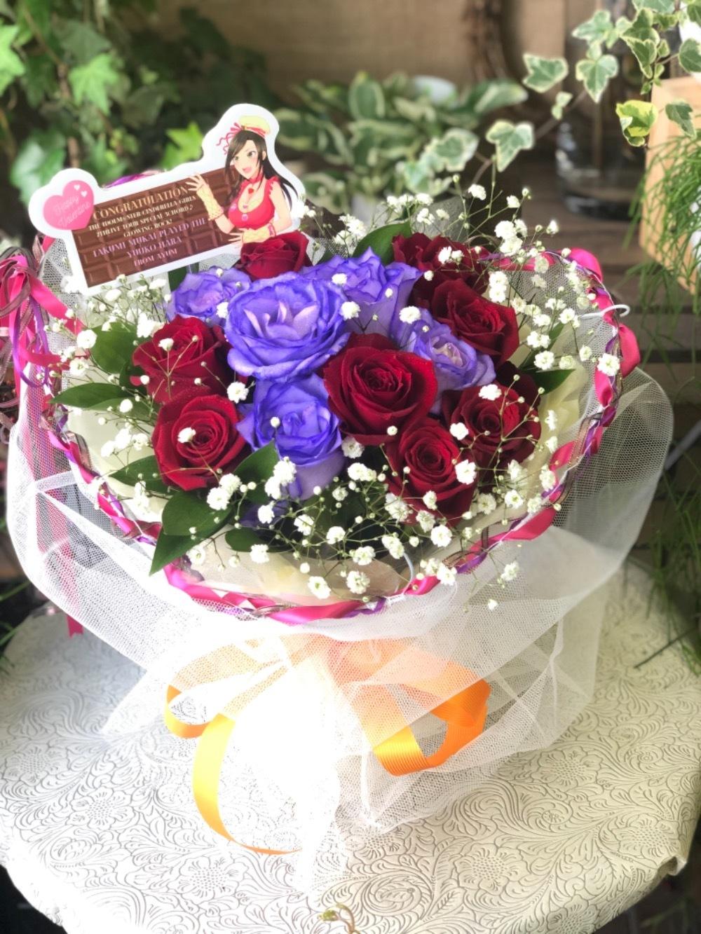 カスミソウを使用したお祝い花