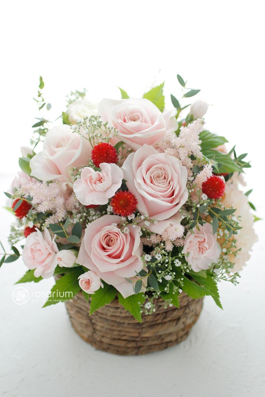 ピンクのバラを使用したお祝い花