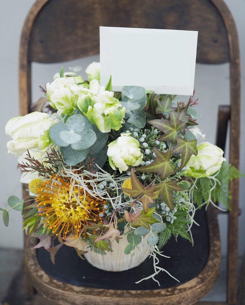 開店祝いのナチュラルな祝い花