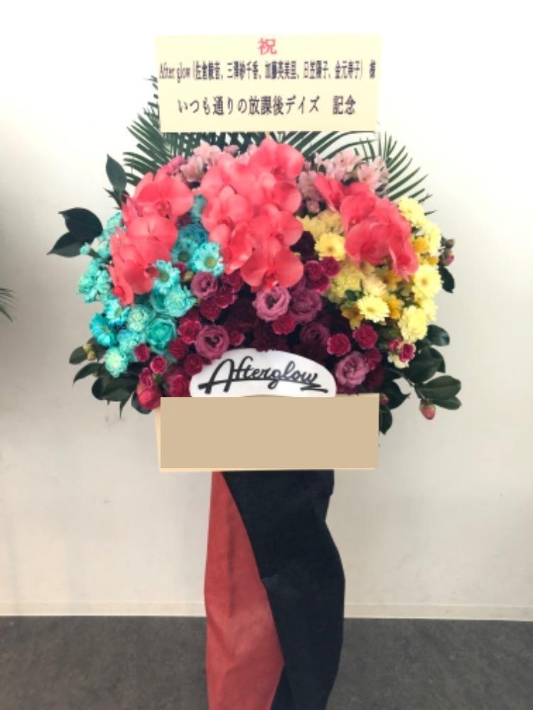 カラフルな胡蝶蘭スタンド花