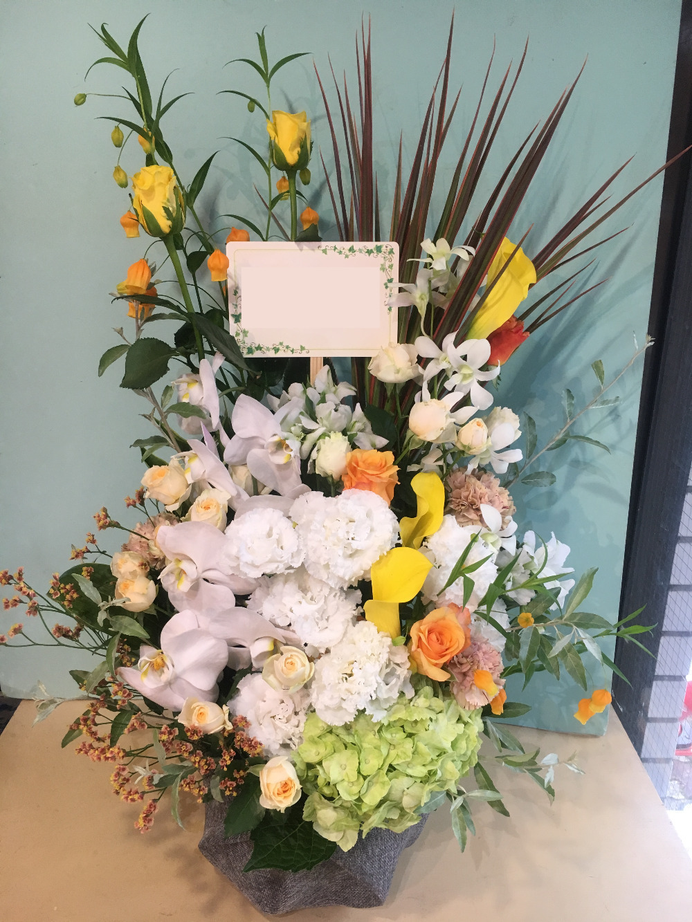 胡蝶蘭が使われたお祝い花