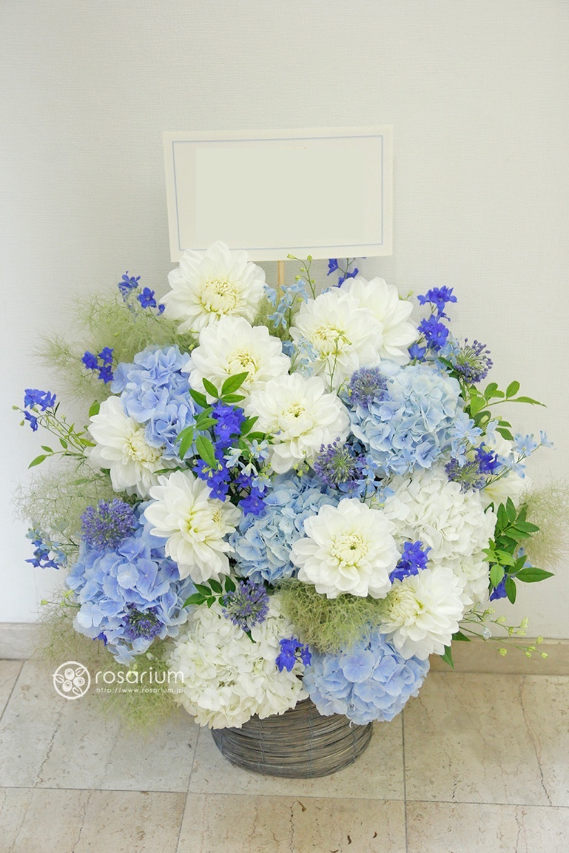 「季節の紫陽花が美しい」クリニック様ご開院祝い花