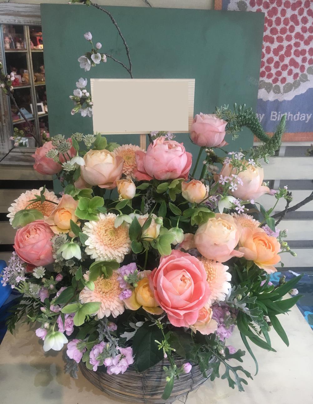 ネイルサロン様への優しい祝い花