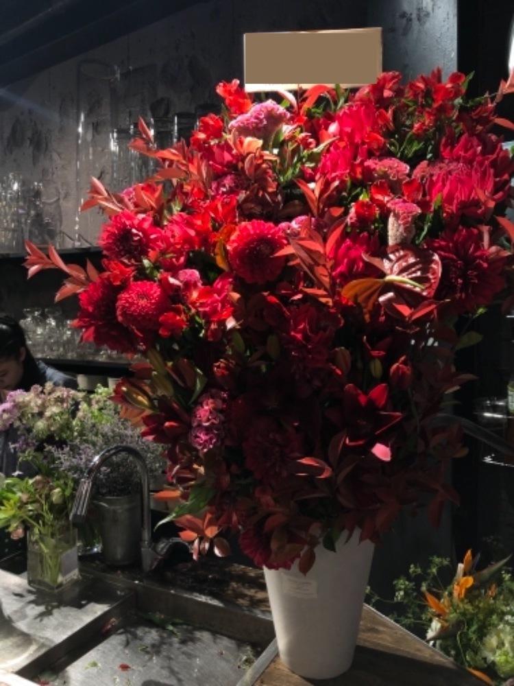 法人様のインパクトのある移転祝い花
