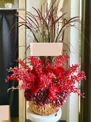 8位:和モダンなご就任祝い花