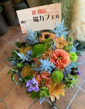 カフェの開店祝い花
