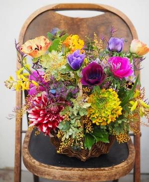 お花畑の様な開店祝い花
