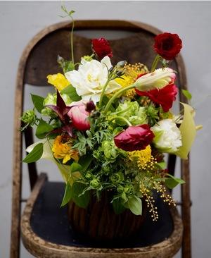イタリアンレストラン様1周年記念祝い花