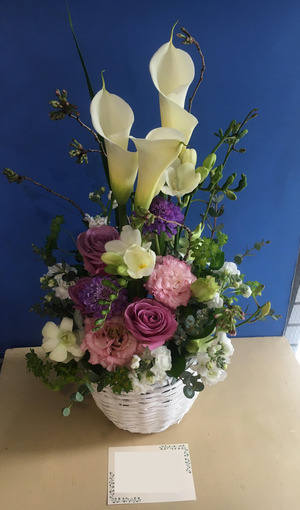 「元気で活き活きと 毎日を送ってほしい」お誕生日祝い花