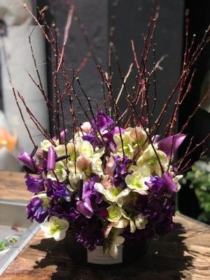 ますます才能を開花させて下さい シックな個展のお祝い花