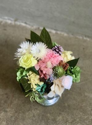 上場祝いにも 枯れないプリザーブドフラワーの祝い花