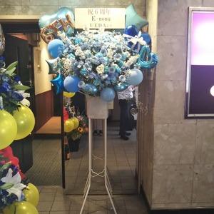 クラブ様へのバルーンスタンド花