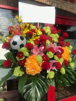 バルーンが印象的なスタンド花