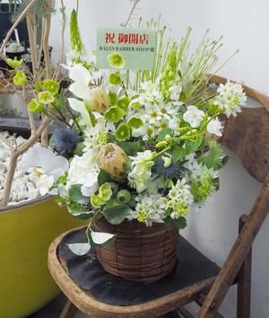 繊細な中に力強さもある 美容院さま開店祝い花