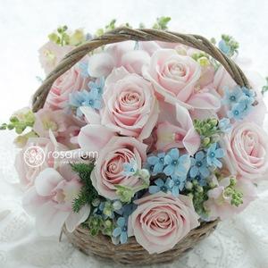 パステルカラーの祝い花