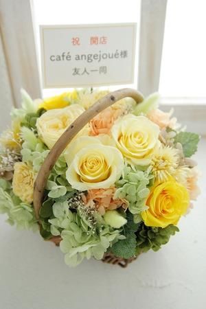 ご友人のカフェの雰囲気に合わせたカフェ開店お祝い花