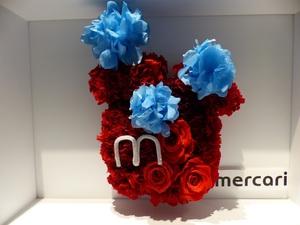 フリマアプリ運営会社さまに贈られた上場祝いのプリザーブドフラワー祝い花|
