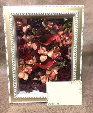 上場祝いにも 絵画の様なプリザーブドフラワー祝い花
