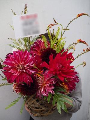 広告代理店のご移転へインパクトある祝い花
